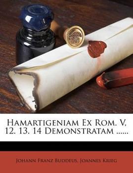 Paperback Hamartigeniam Ex Rom. V, 12. 13. 14 Demonstratam ... ... Book