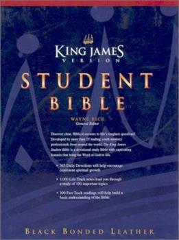 Hardcover Student Bible: King James Version Black Bonded Leather Book