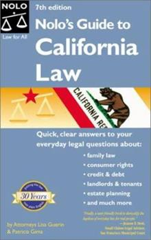 Paperback Nolo's Guide to California Law Book