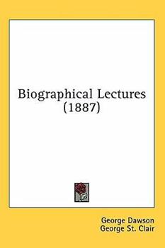 Paperback Biographical Lectures (1887) Book