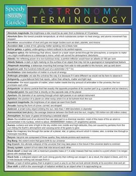 Paperback Astronomy Terminology (Speedy Study Guide) Book