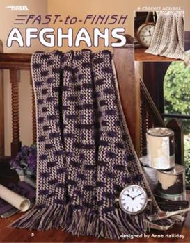 Paperback Fast-To-Finish Afghans (Leisure Arts #3586) Book