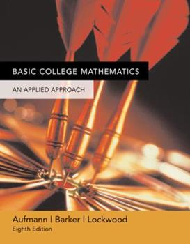 Basic College Math: An Applied Approach 0618503056 Book Cover