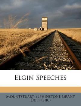 Paperback Elgin Speeches Book
