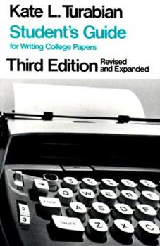 Paperback Student's Guide for Writing College Papers Book