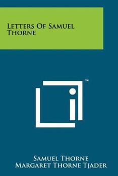Paperback Letters of Samuel Thorne Book