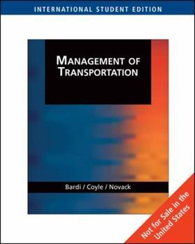 Management of Transportation 0324314434 Book Cover