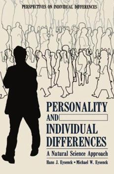 Hardcover Personality and Individual Differences: A Natural Science Approach (Perspectives on Individual Differences) Book