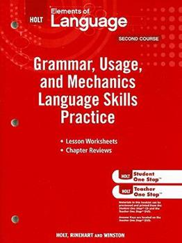 Elements of Language: Grammar Usage and Mechanics Language Skills Practice Grade 8 0030994152 Book Cover