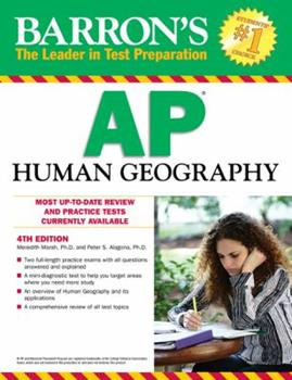 Paperback Barron's AP Human Geography, 4th Edition Book