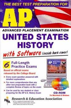 REA's AP US History Test Prep with TESTware Software 0878913327 Book Cover
