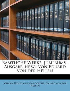 Paperback S?mtliche Werke Jubil?ums-Ausgabe, Hrsg Von Eduard Von der Hellen Book