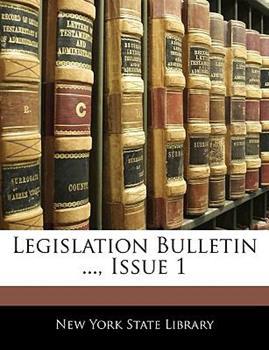 Paperback Legislation Bulletin ..., Issue 1 Book