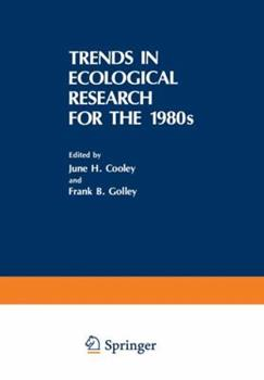 Paperback Trends in Ecological Research for the 1980s Book