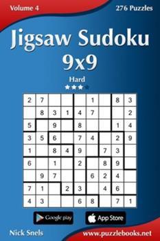 Paperback Jigsaw Sudoku 9x9 - Hard - Volume 4 - 276 Puzzles Book