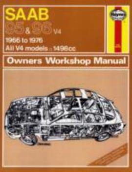 Paperback Haynes Saab 95 and 96 V4, 1966-1975; All V4 models: (Owners Workshop Manuals Ser. : No. 198) Book
