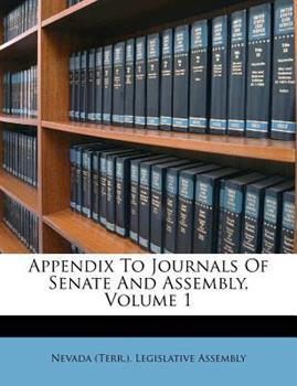 Paperback Appendix to Journals of Senate and Assembly Book