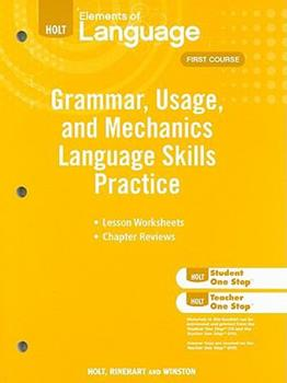 Elements of Language: Grammar Usage and Mechanics Language Skills Practice Grade 7 0030994144 Book Cover