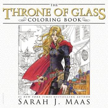 The Throne of Glass Coloring Book 1681193515 Book Cover