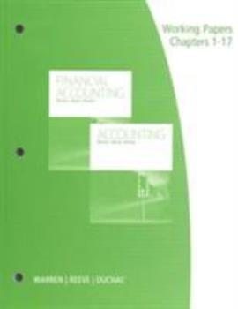 Working Papers, Chapters 1-17: Accounting and Financial Accounting 1285073096 Book Cover