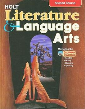 Holt Literature and Language Arts 2nd Course, Ca Edition 003056493X Book Cover