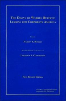 Paperback The Essays of Warren Buffett : Lessons for Corporate America Book