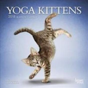 Calendar Yoga Kittens 2018 7 x 7 Inch Monthly Mini Wall Calendar, Animals Humor Kitten (Multilingual Edition) Book