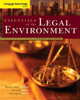 Essentials Of The Legal Environment 032478614X Book Cover
