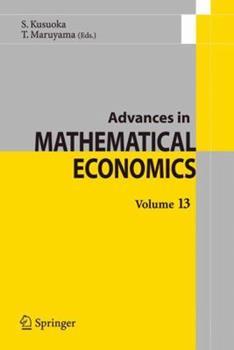 Paperback Advances in Mathematical Economics Volume 13 Book