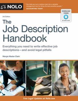 The Job Description Handbook 1413304427 Book Cover