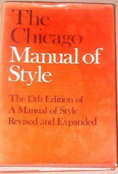 Hardcover The Chicago Manual of Style Book