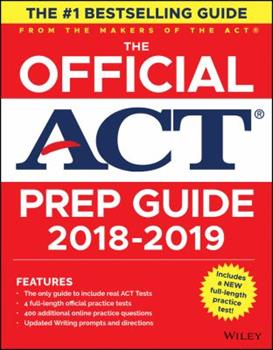 Paperback The Official ACT Prep Guide 2018-2019 Book