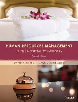 Human Resources Management in the Hospitality Industry 0470084804 Book Cover