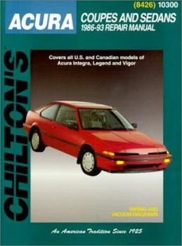 Paperback Acura Coupes and Sedans, 1986-93 1986-93 Repair Manual Book
