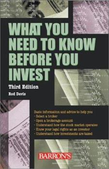 What You Need to Know Before You Invest 0764110020 Book Cover