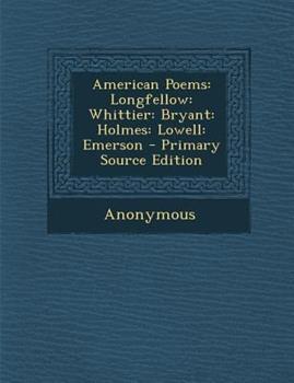 Paperback American Poems : Longfellow Book
