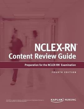 Paperback NCLEX-RN Content Review Guide Book