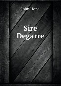 Sire Degarre 5518676204 Book Cover