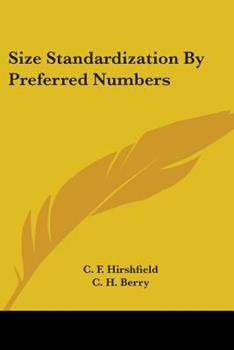Paperback Size Standardization by Preferred Numbers Book