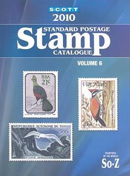 Scott Standard Postage Stamp Catalogue, Volume 6: Countries of the World, So-Z 0894874438 Book Cover