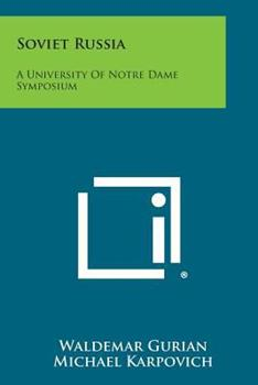 Paperback Soviet Russia: A University of Notre Dame Symposium Book