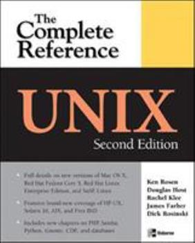 Unix: The Complete Reference 007211892X Book Cover