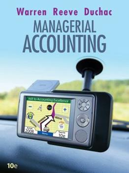 Paperback Managerial Accounting Book