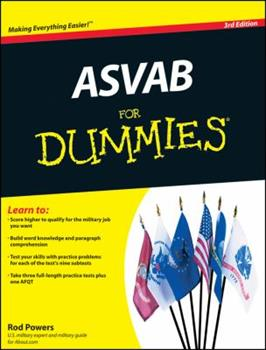 Paperback ASVAB for Dummies Book