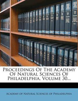 Paperback Proceedings of the Academy of Natural Sciences of Philadelphia Book