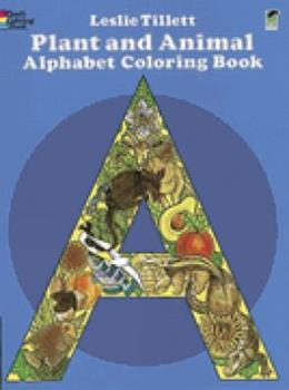 Paperback Plant and Animal Alphabet Coloring Book