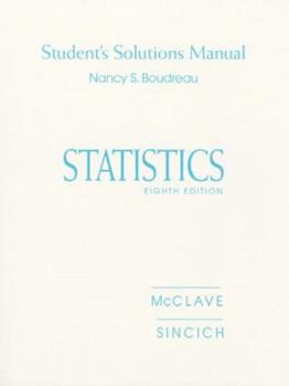 Statistics: Student's Solutions Manual 0130225606 Book Cover
