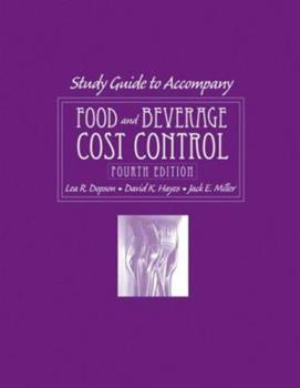 Food and Beverage Cost Control, with CD-ROM, Study Guide 0470140585 Book Cover