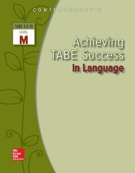 Paperback Achieving TABE Success In Language, Level M Workbook (Achieving TABE Success for TABE 9 & 10) Book