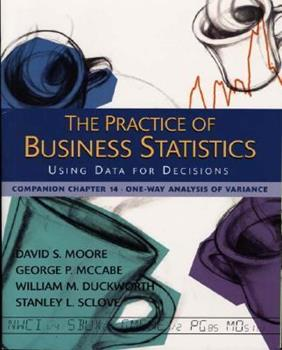 The Practice of Business Statistics Companion Chapter 14: One-Way Analysis of Variance 0716796252 Book Cover